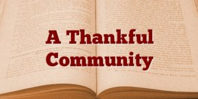A Thankful Community